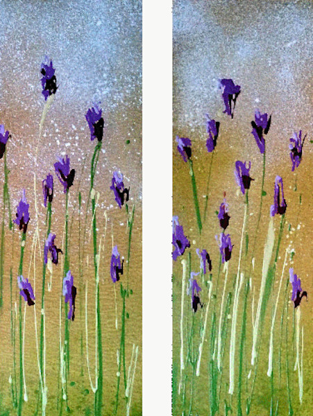 Flowers-Diptych