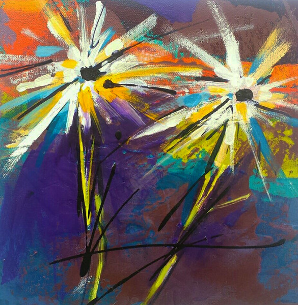 2-flowers, expression, free-flowing, whimsical