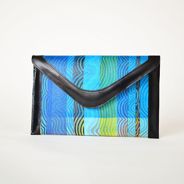 NV BIRKELAND1 BLACK CLUTCH | 1uv Designs | SavvyArt Market