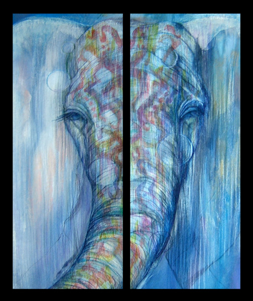 PRINT OF ADORN ELEPHANT 2