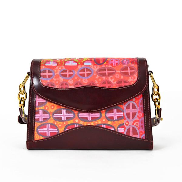 P2 CROSSES FALL BURGUNDY SHOULDER BAG | 1uv Designs | SavvyArt Market