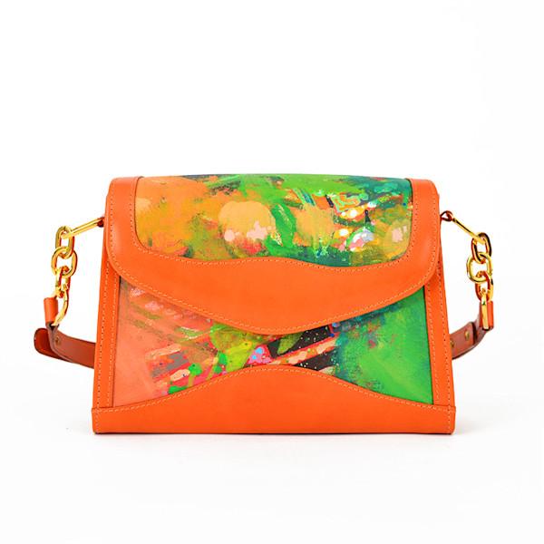 P2 DAY'S END ORANGE HAND BAG | 1uv Designs | SavvyArt Market