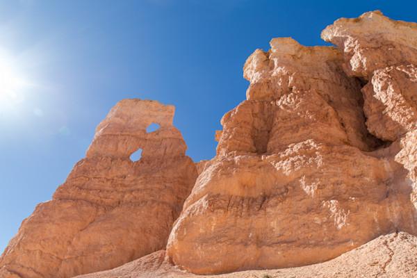 Rock Formation and Sun, Utah, USA