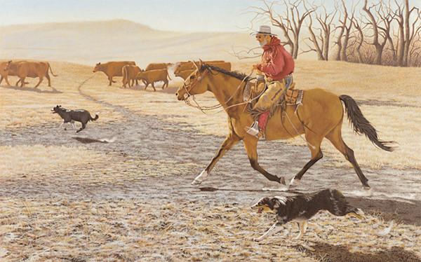 Raymond Wattenhofer Fine Art Print Long Trot