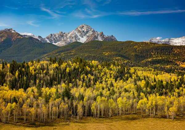Photograph of the Mt Sneffels Wilderness Colorado Autumn Colors