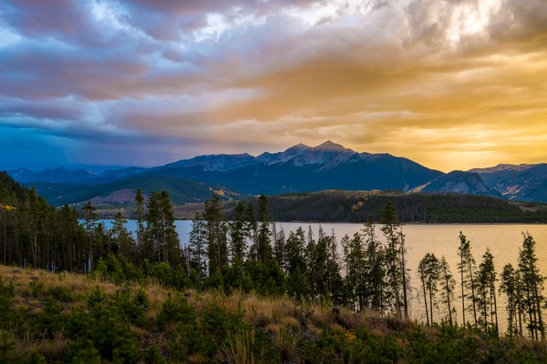 Photograph of Lake Dillon sunset with Peak 4 in Summit County Colorado