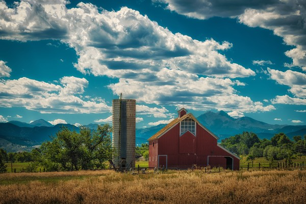Photograph of Old Stroh-Dickens Rustic Colorado Barn Boulder County