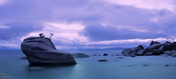 Bonsai Rock Blues, Lake Tahoe Photograph art print