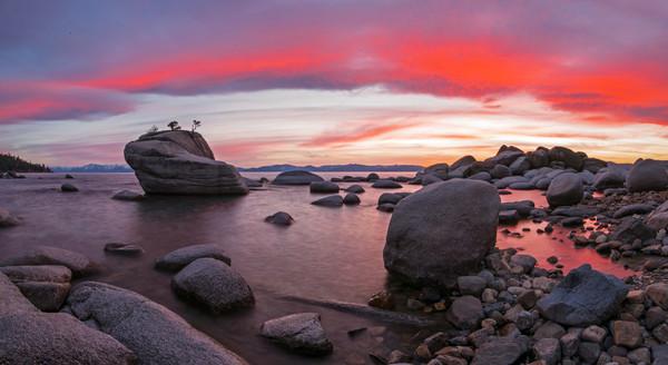 Bonsai Rock on Fire, Lake Tahoe picture by Brad Scott
