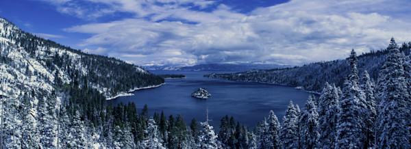 Emerald Bay First Snow, Lake Tahoe Photograph Art