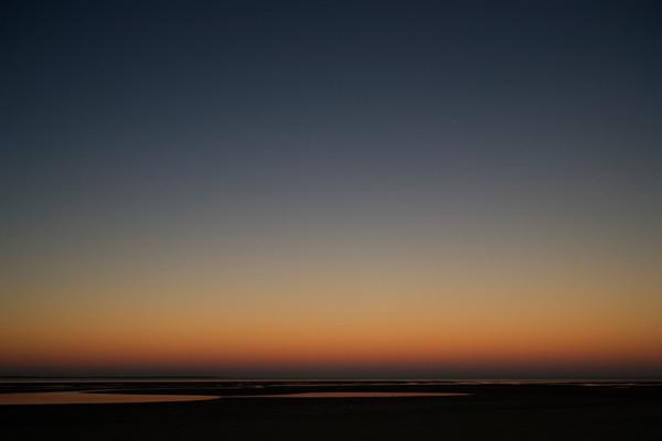 dark sunset beach art print