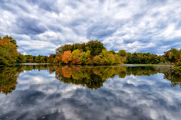 Autumn Reflections Limited Edition Signed Landscape Photograph by Melissa Fague