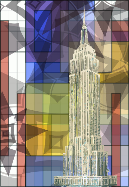 Empire State Building art, print by Peter McClard. World Trade Center Photographic Print, art by Peter McClard at vectorArtLabs.com