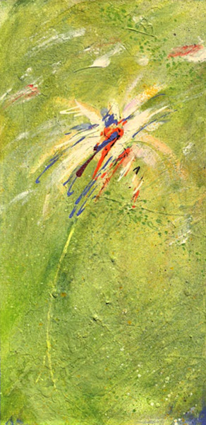 free-flowing-1, chartreuse, white, flower, accent-lavender, abstract