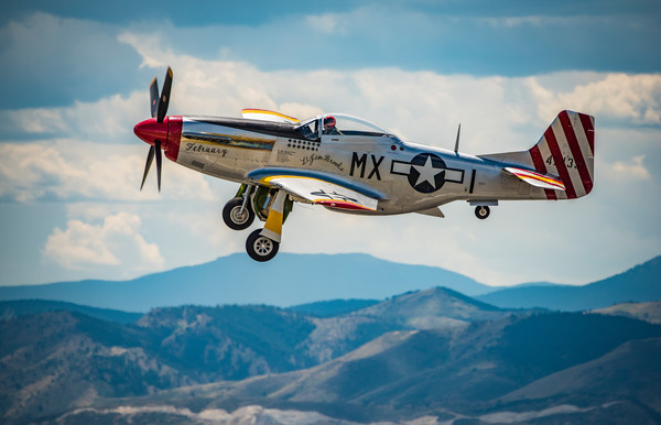 "Photo of P-51D Mustang ""February"" Performing Flyby Colorado Airshow"