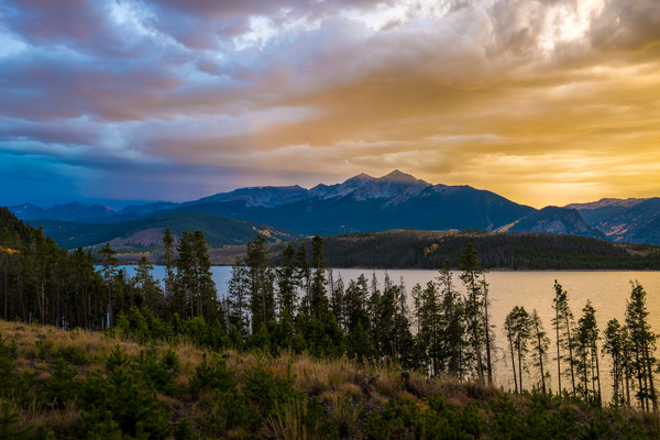 Photo of Lake Dillon Sunset over Peak 4 Summit County Colorado