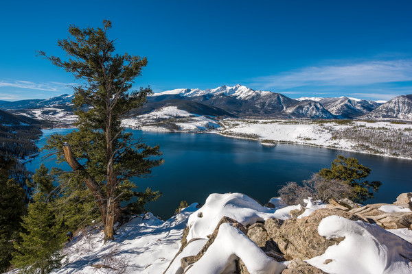 Photo of Snow Covered Peak 10 Lake Dillon Summit County Colorado