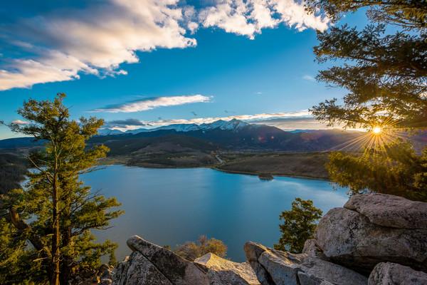 Sunset Photo of Lake Dillon Reservoir & Peak 4 Summit Sapphire Point Summit County Colorado