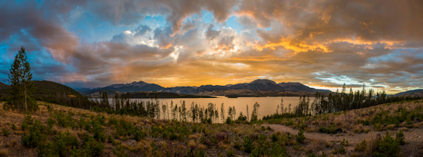 Panoramic Photo Lake Dillon Reservoir Sunset Summit County Colorado