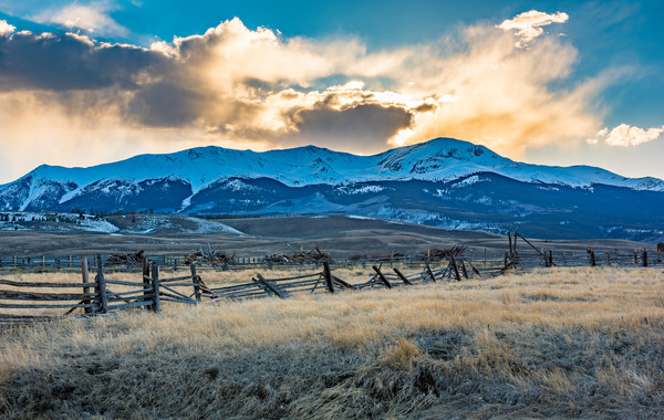 Photo of Mt Elbert Sunset - Twin Lakes Leadville Colorado Ranch