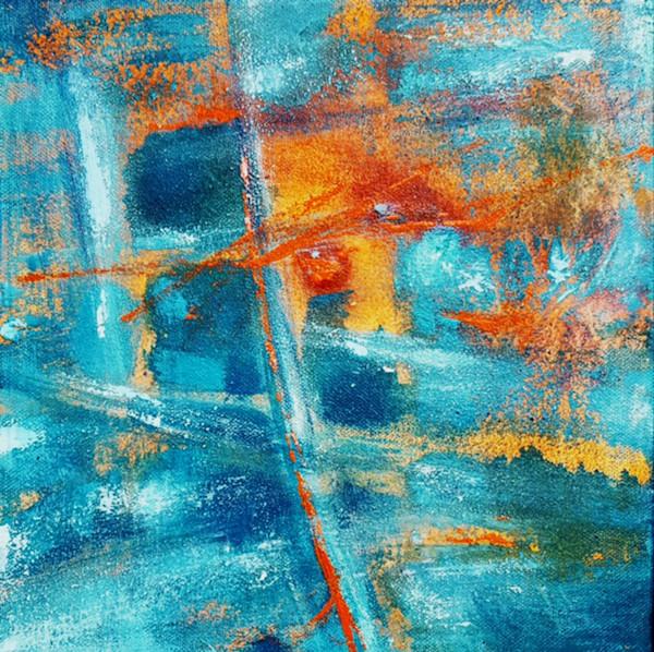joy, soul, 2, abstract, blues, oranges, original