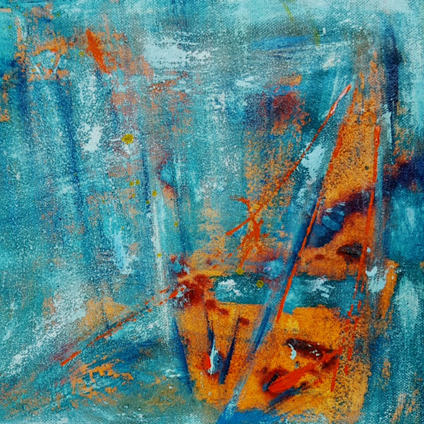 Joy in the Depths of the Soul 1 - Original Abstract Painting by Christine Nye
