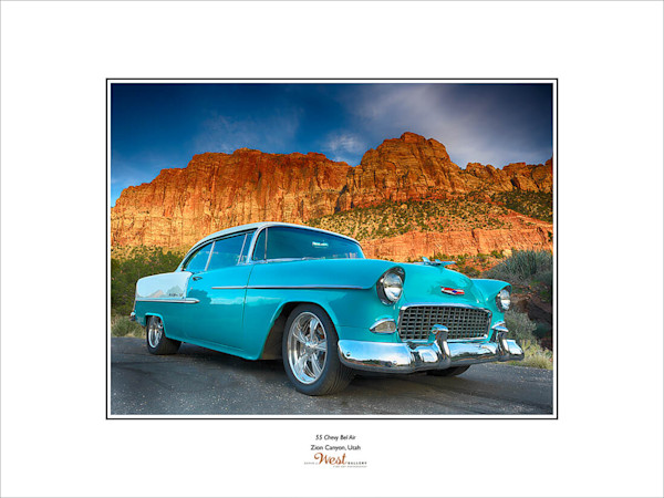 55 Chevy Bel Air Poster