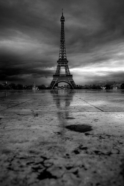 Brooding Eiffel Tower Paris, France