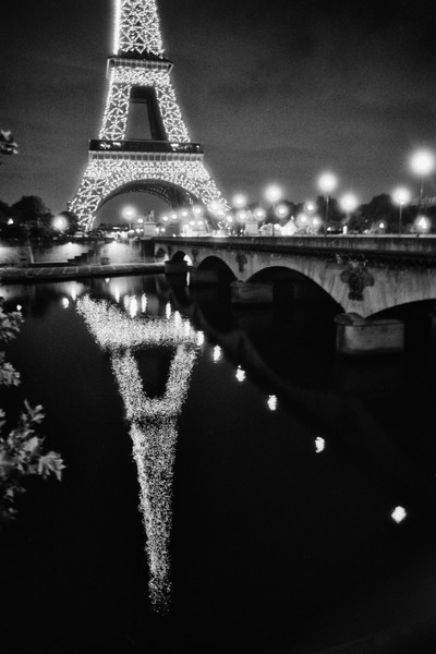The Eiffel Tower Reflection at Pont d lena, Paris, France