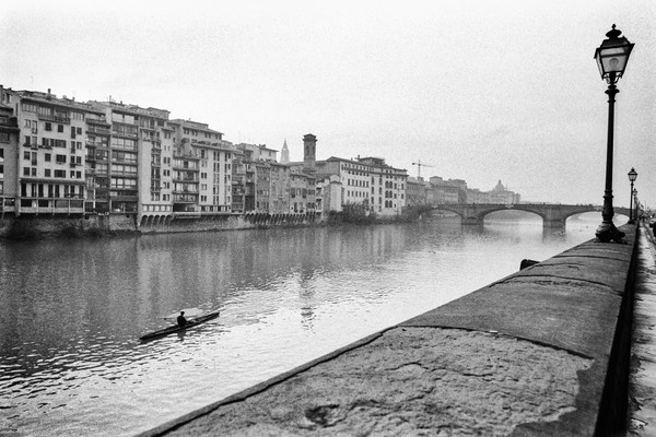 Kayak on Arno River, Florence, Italy