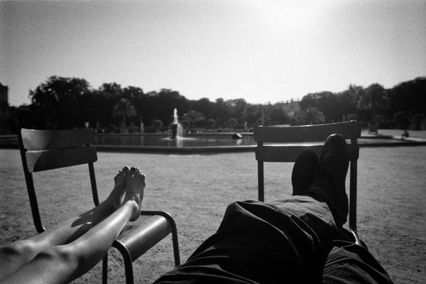 Relaxing in Jardin de Luxuembourg