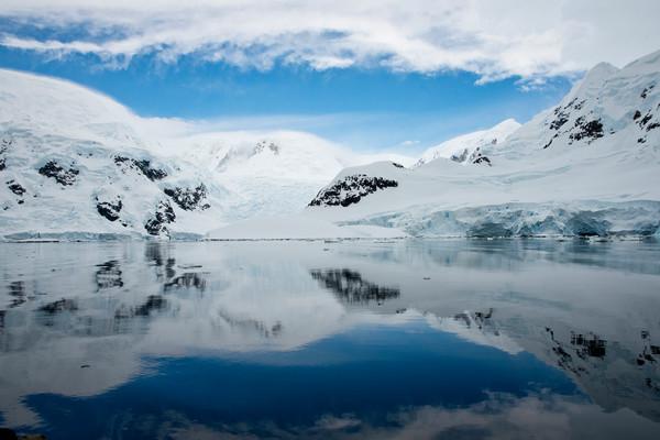 Reflections, Antarctica shoreline, Antarctica