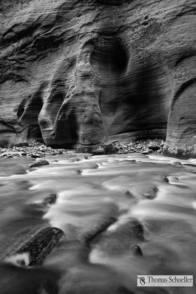 Zion National Park/The Virgin River Narrows B&W fine art prints by Tom Schoeller