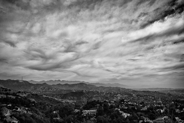 Clouds Over Hollywood Hills, Los Angeles, California, USA