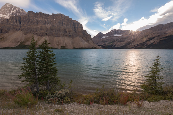 Bow Lake Sunset Photograph for Sale as Fine Art.