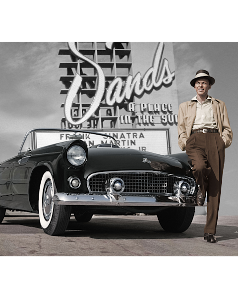 Frank Sinatra out front of Sands