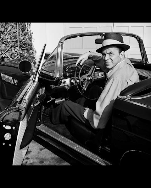 Frank Sinatra in his Thunderbird