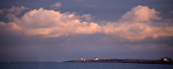 Straitsmouth Lighthouse, Sunset, Rockport