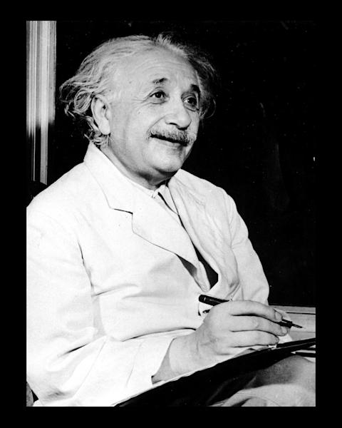 Albert Einstein with a Clipboard