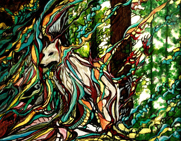 Surrealistic Reflections - Spirit of the Wolf