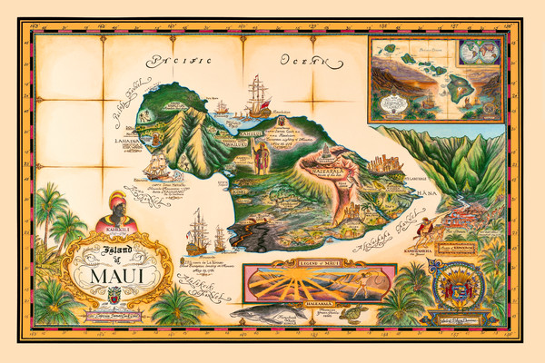 Blaise Domino | Maui Historical Map