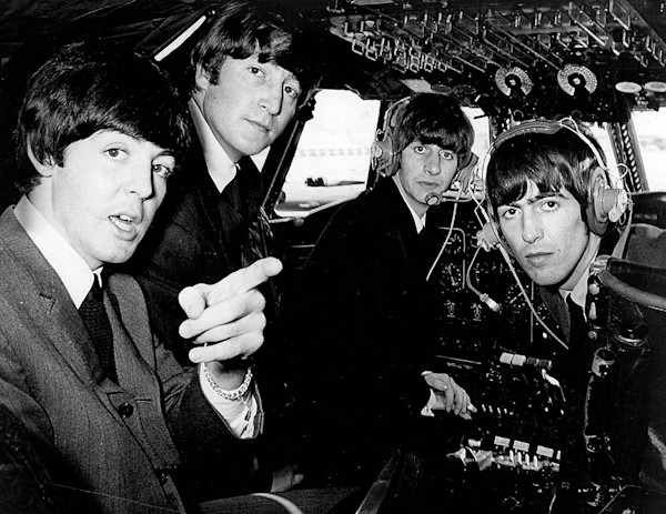 The Beatles and Muhammad Ali in a Cockpit