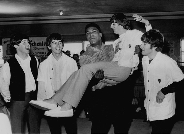 Muhammad Ali and the Beatles Black and White