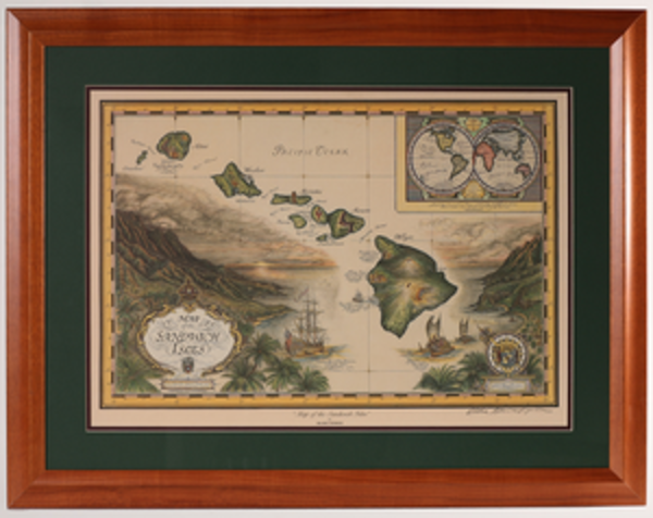 Framed Prints | Map of Sandwich Isles