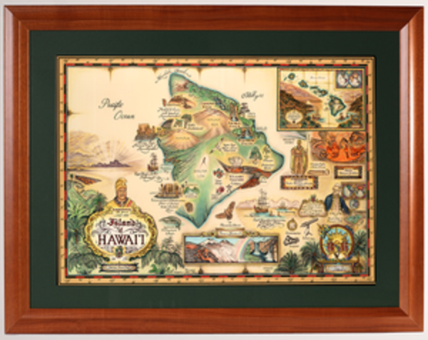 Framed Prints | Map of Hawaii
