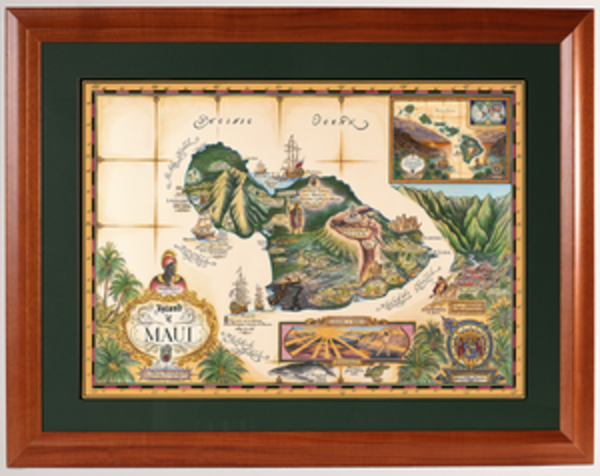 Framed Prints | Map of Maui