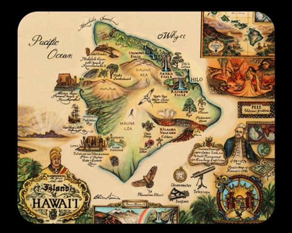 Map of Hawaii Mousepad