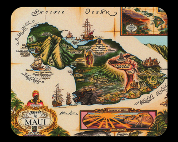 Map of Maui Mousepad