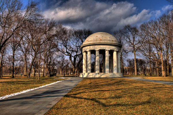A Fine Art Photograph of the Revolutionary District Memorial by Michael Pucciarelli