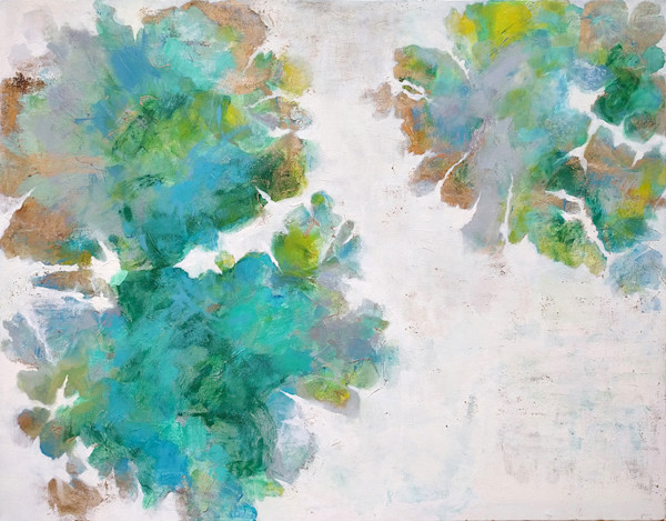 Elisa Sheehan uses her love of the outdoors along with color, shape, texture and line to express emotion in her work in this original painting.